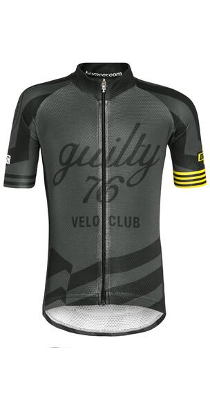 guilty 76 racing Velo Club Pro Race Jersey korte mouwen Kinderen zwart